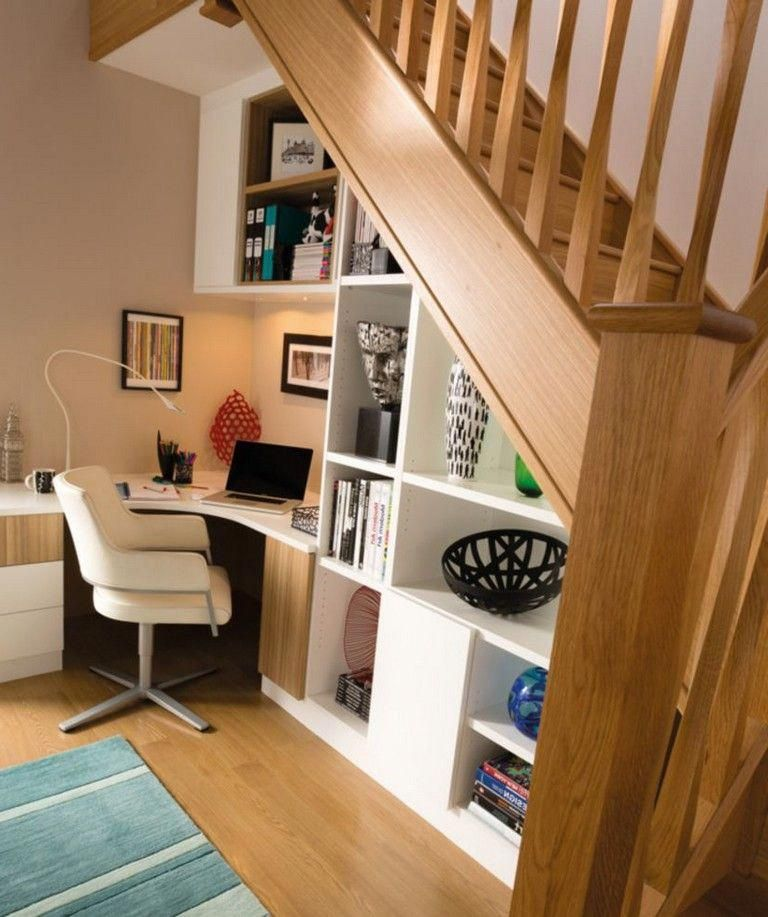 35+ Inspiring Home Office Design Using Under the Stairs ...