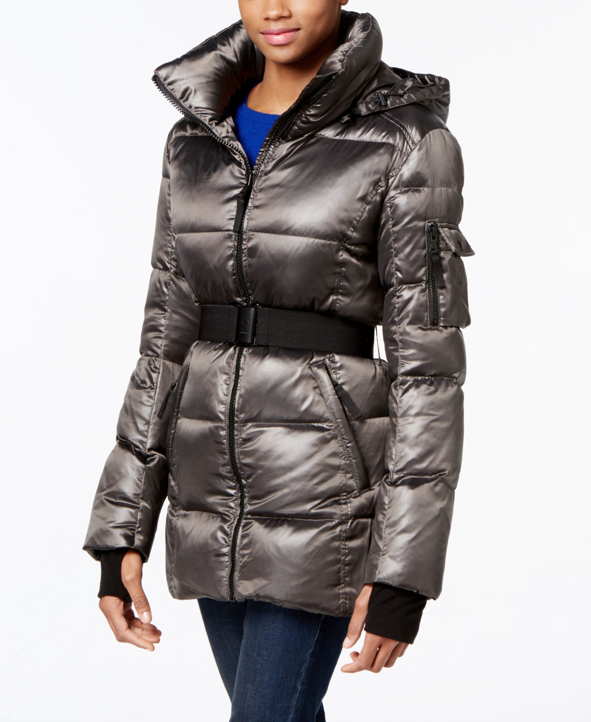 53c8265e3 S13 Belted Shimmer Down Puffer Coat