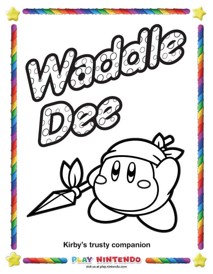 Kirby Coloring Pages Mic