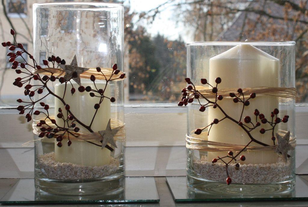 Windlichter aus Glasvasen – Hermene