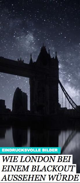 """""""Blackout City"""" heißt das Projekt des Fotografen Nicholas Buer, in dem er eindrucksvoll simuliert, wie die britische Hauptstadt ohne jegliches Licht aussehen würde. Über eineinhalb Jahre hinweg hat er das Material gesammelt, das er jetzt in einem faszinierenden Timelapse-Video vorgestellt hat: http://www.travelbook.de/europa/Timelapse-Video-Wie-London-bei-einem-Blackout-aussehen-wuerde-578395.html"""