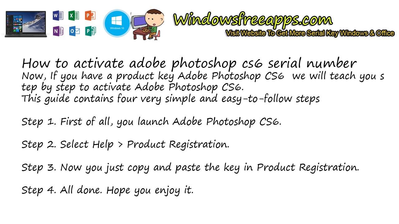 photoshop cs6 serial no
