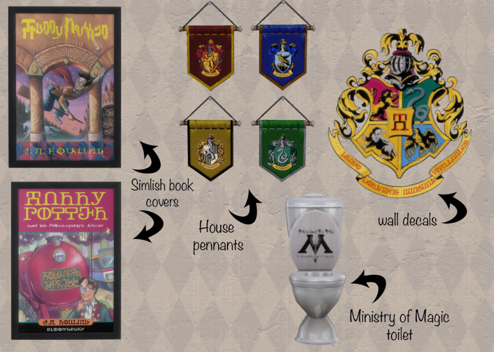 Simlish Harry Potter Pack Sims 4 Sims Harry Potter Poster