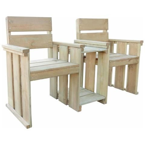 Photo of Panchina da Giardino a 2 Posti 150 cm in Legno FSC Impregnato