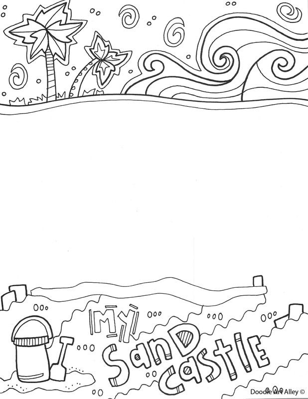 Summertime Coloring Pages at Classroom Doodles   Classroom Doodles ...