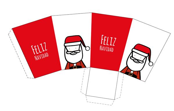 15 Cajas de Navidad para imprimir | Dibujo de papá noel, Papá noel y ...