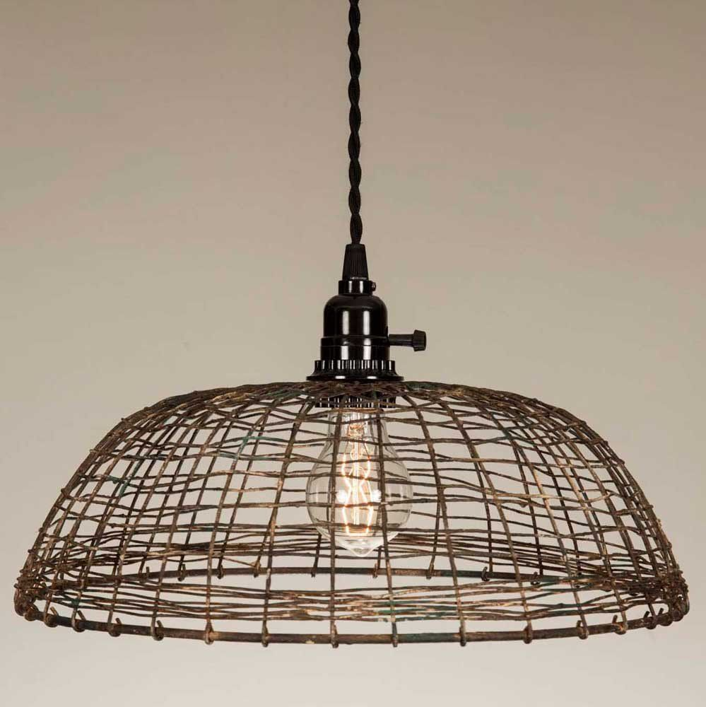Woven Wire Pendant Lamp | Pendant lamps, Wire pendant and Ceiling ...