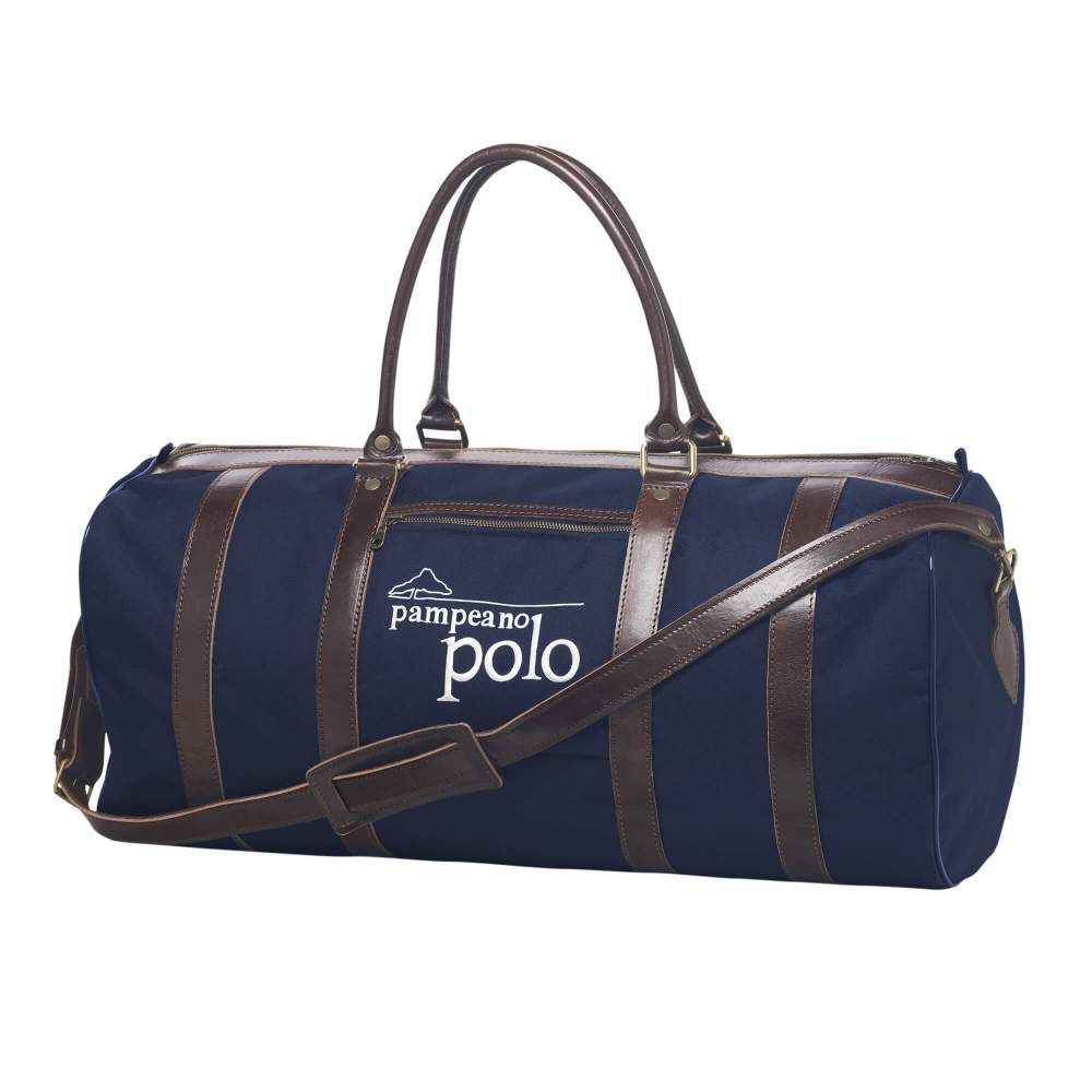 3088dfee2551 Pampeano Leather and Canvas Polo Sports Kit Bag - Navy The ideal Polo Kit  Bag or