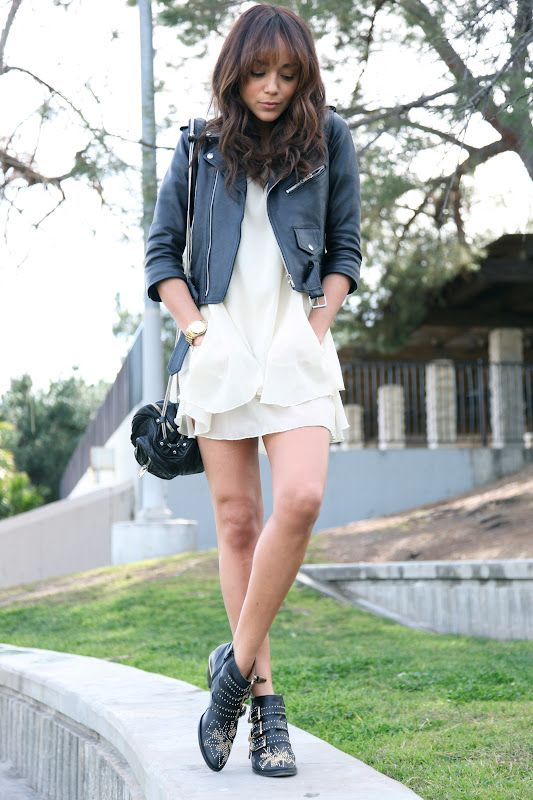 f4c8b32d Ashley Madekwe (Ring My Bell) - Vintage leather jacket, Millau dress ...