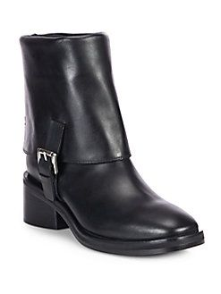 Costume National Mid-Calf Leather Boots order for sale sale online official site online sneakernews for sale FgEG8Uz
