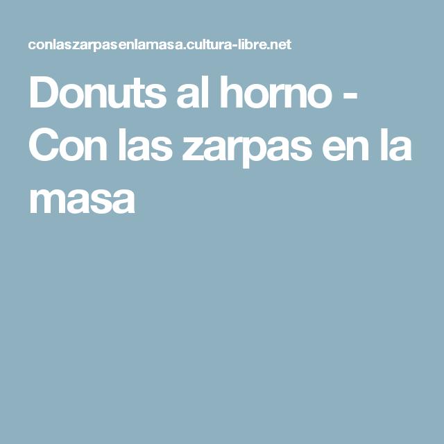 Donuts al horno - Con las zarpas en la masa