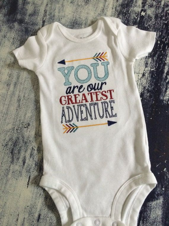 b56f74b52056 you are our greatest adventure onesie or gown by AinsleysDesigns ...