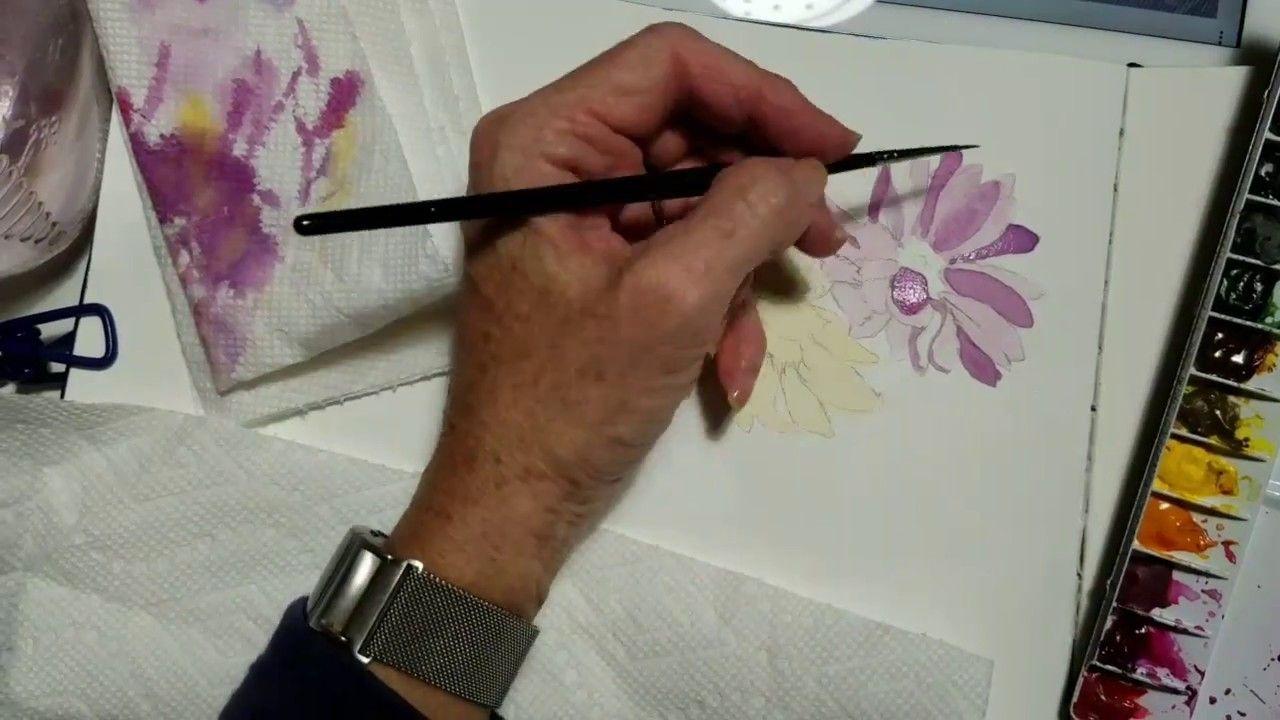 Gerbera Daisies In Watercolor Watercolor Lessons Art For Kids