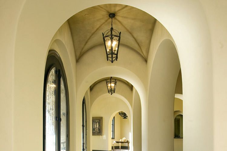 Foyer Light For Sloped Ceiling : Stun your guest with a foyer like this groin vault
