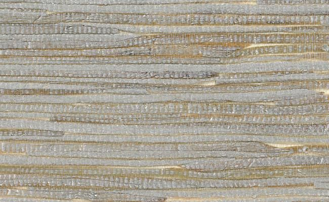 Grasscloth Wallpaper In Metallic And Off White Design By