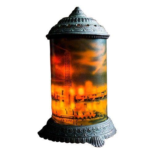 Antique Cast Iron Motion Lamp Chicago Worlds Fair Circa 1930s