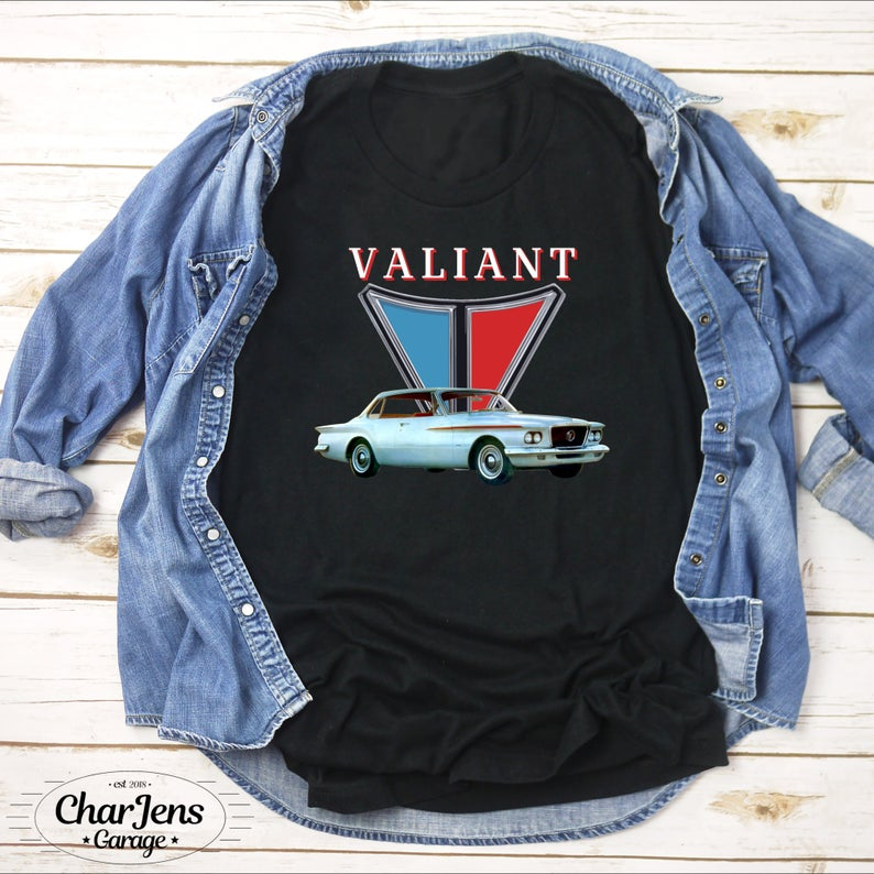 Plymouth Valiant MOPAR Chrysler Vintage Classic Car Shirt, Long Sleeve, Youth Tees, Men's Or Women's Tank Top, Hoodies, Unisex Tshirt