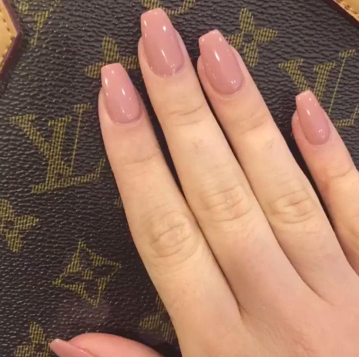 Natural Nail Bridesmaid Nails Pink Bridesmaids Nails Dark Pink Nails