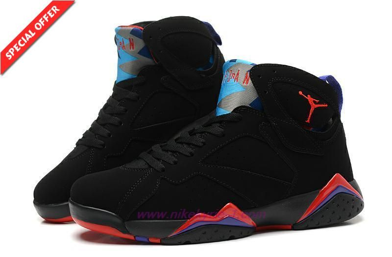 bac2b8a854b Discount Shoes Online Mens-Womens Black/Red/Purple RAPTOR 304775-018 AIR  JORDAN 7 RETRO
