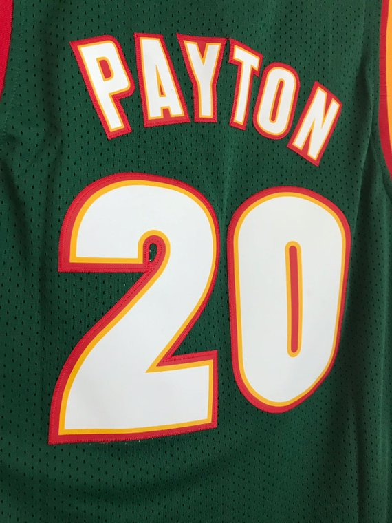 5bf2acdbad5 Gary Payton #20 Seattle SuperSonics Basketball Vintage Jersey Men's ...