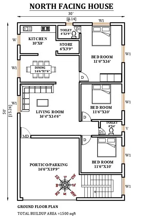 Pin On 1200 Sq Ft House