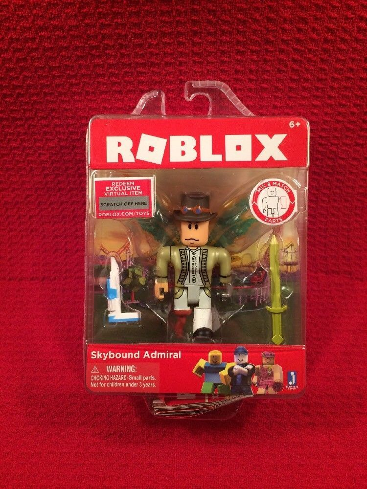 New Roblox Skybound Admiral Series 2 Action Figure Virtual Item - roblox 2017 blind mystery surprise cube series 2 ebay