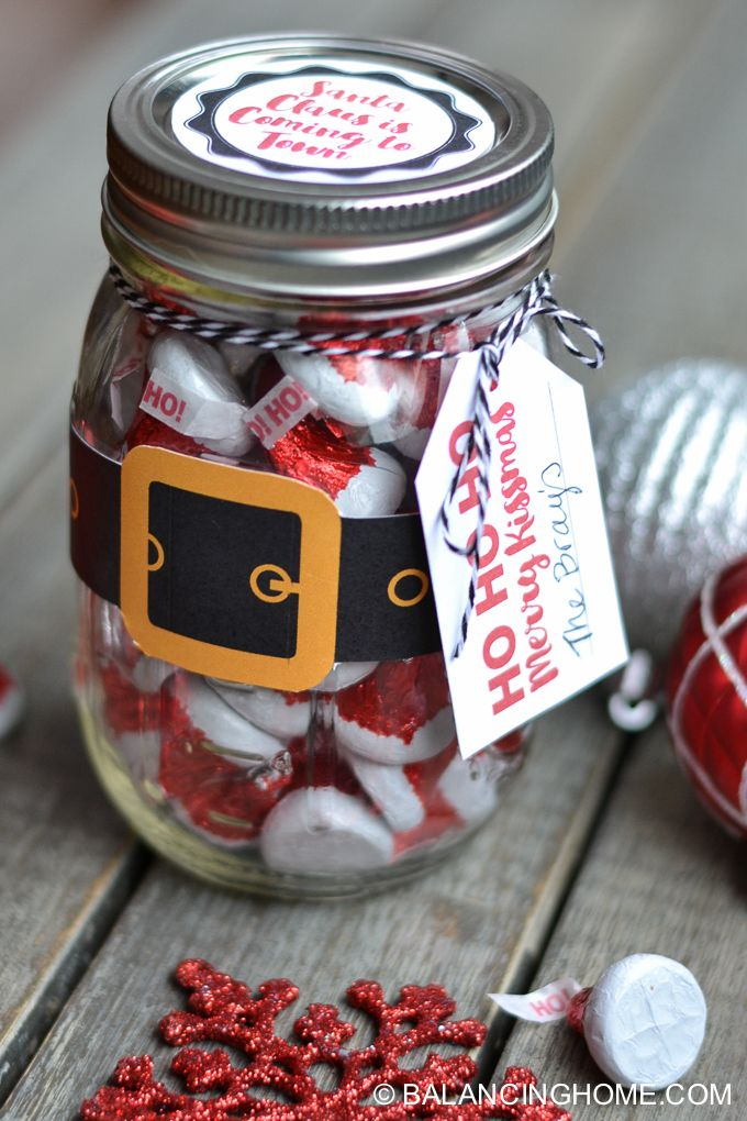 Christmas Mason Jar Santa Gift & Printable | Christmas ...