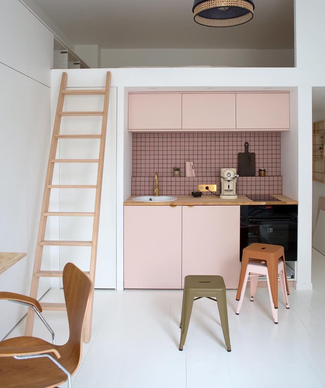 Cuisine en 2019 la vie en rose dise o de espacios cocinas et disenos de unas - Cuisine de 16m2 ...