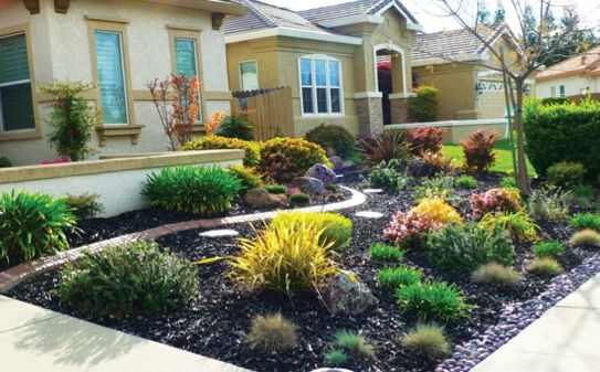 Ideas For Front Yard Landscaping Without Grass Minimalist Design