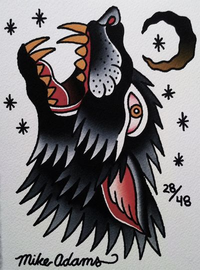 76dfbd1df Tattooing by Mike Adams Traditional Tattoo Design, Traditional Tattoo Flash,  Traditional Bear Tattoo,