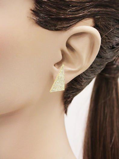 f77f85295 Large Diamond Triangle Studs - Yellow Gold - Jennifer Meyer | Girl's ...