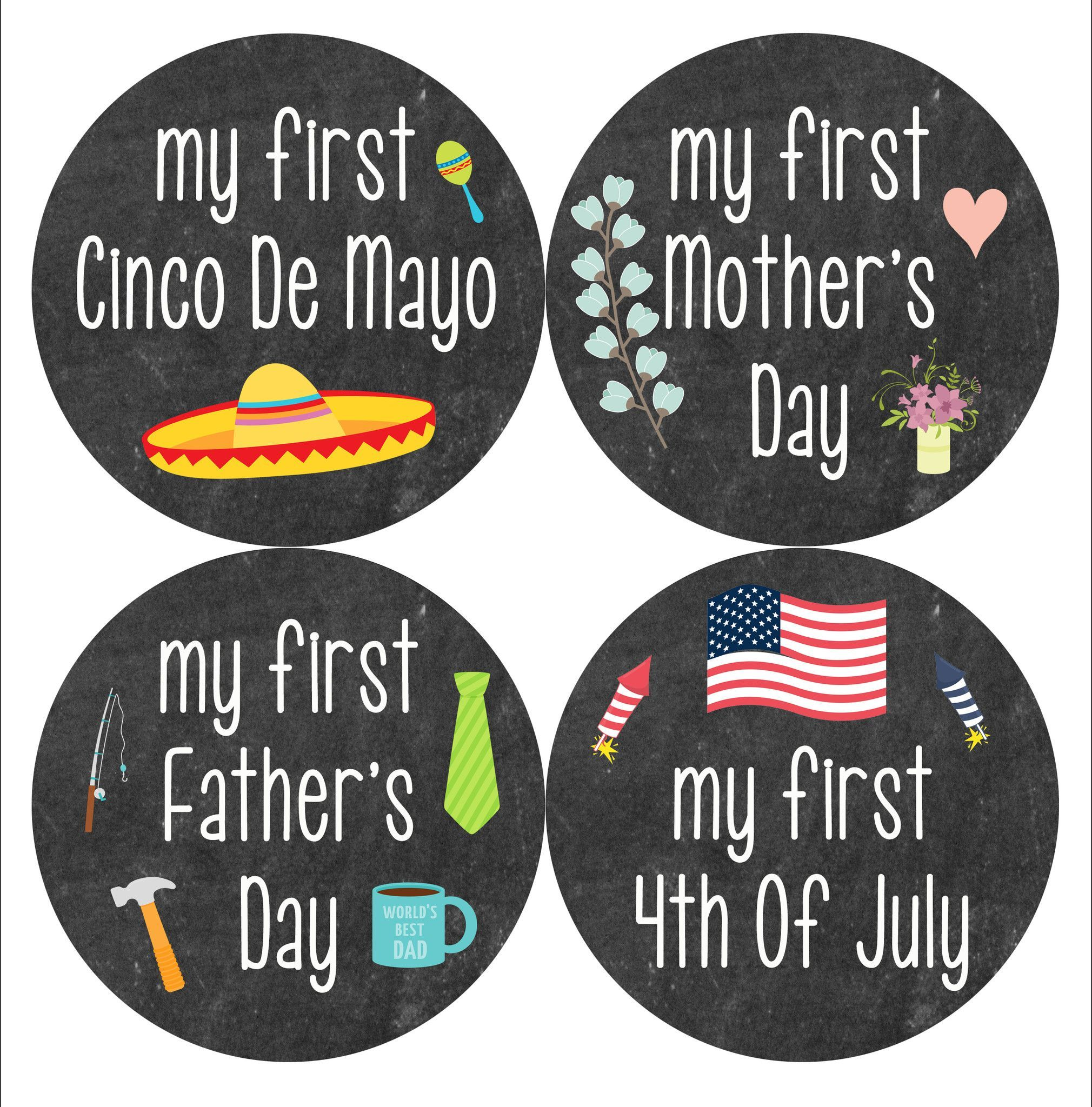 Baby Monthly Milestone Stickers are a perfect way to document baby's growth during the first year of life. #babyholiday #holiday stickers