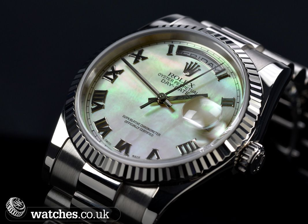 Rolex Day Date 18ct White Gold Watch - 118239 #rolex #rolexwatches #daydate #118239 #swcwatches #whitegold