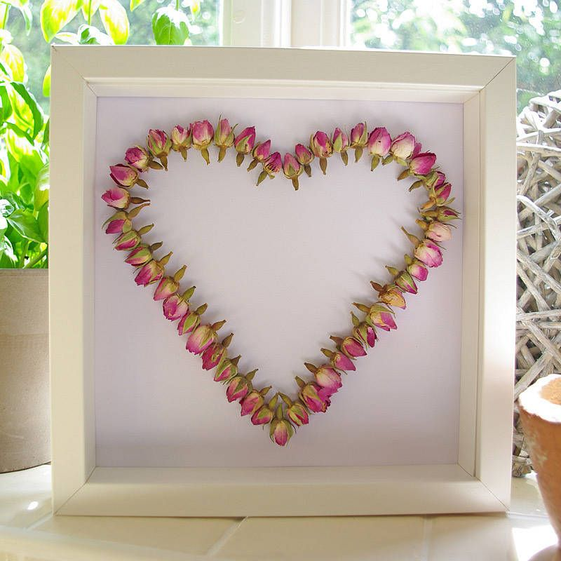 Rosebud Heart Framed Picture | Crafts, Crafty and Nature crafts