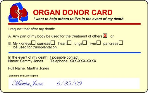 Organ Donor Id Card Yahoo Image Search Results Organ Donor Helping Others Prevention