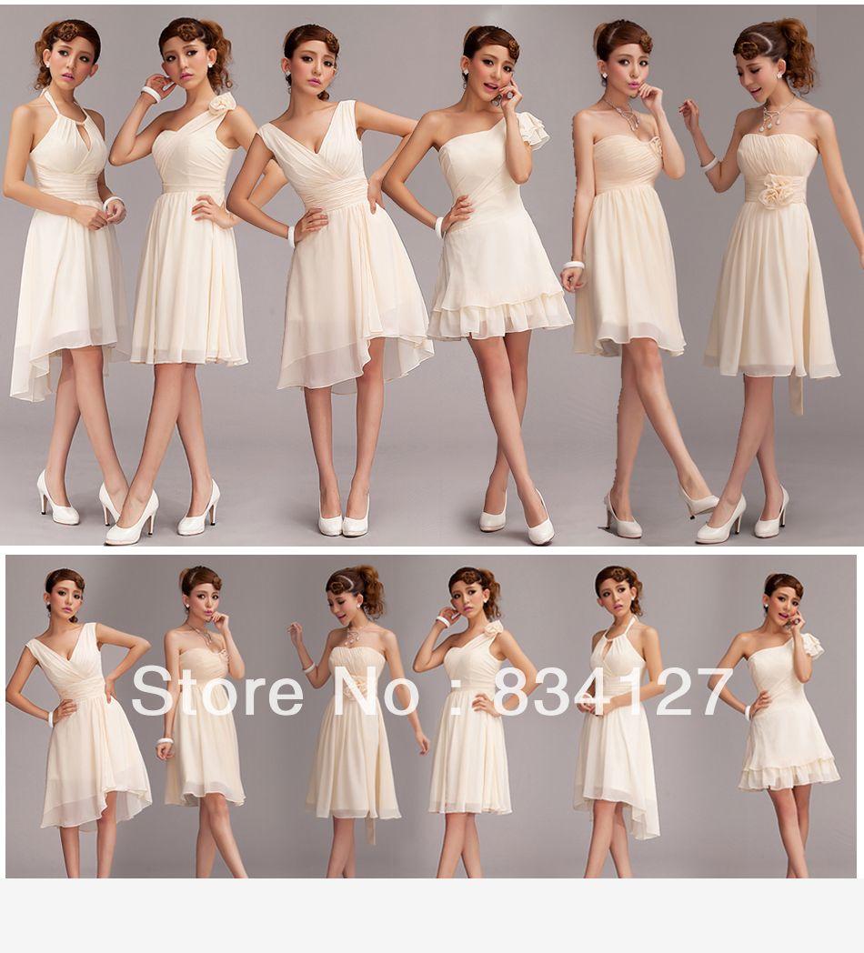 0bf730fd30d 6 tipos de vestido de fiesta estilo dama de honor corto vestido de traje  falda todo el tamaño nuevo envío gratis en Vestidos de Damas de Honor de  Moda y ...