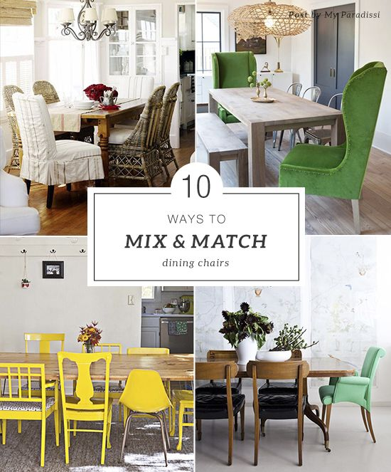 How To Mix And Match Dining Chairs Mixed ChairsFabric Room