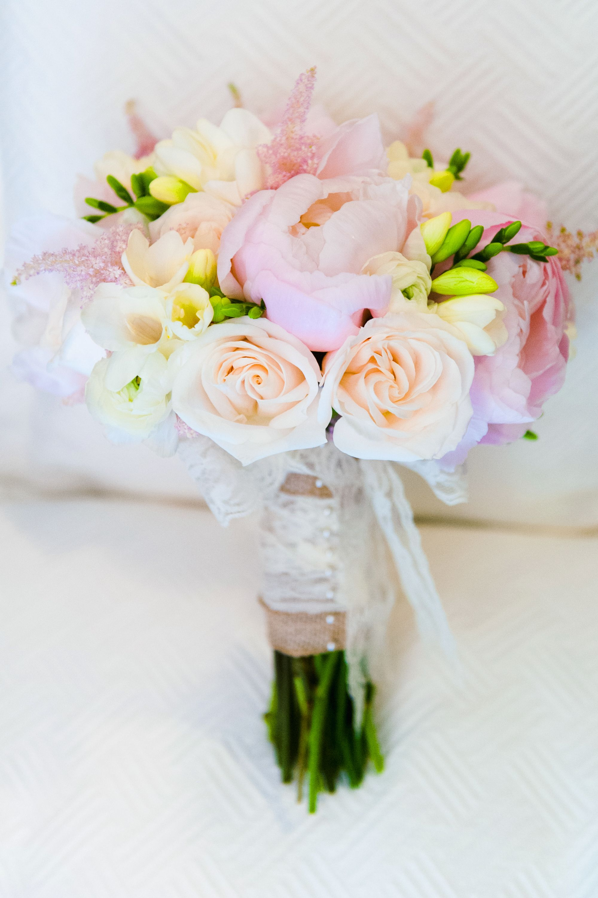 Peonies, Roses and Astilbes Bouquet