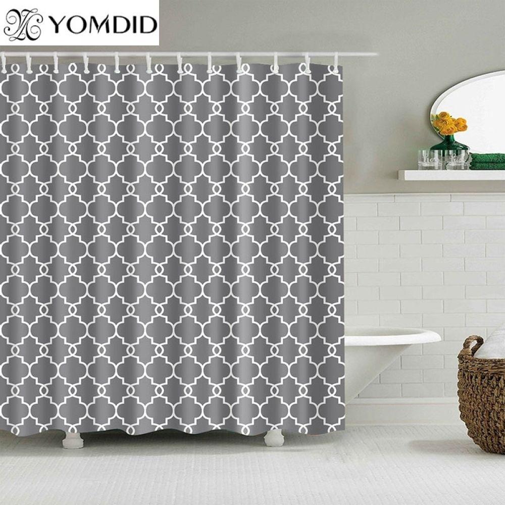 Geometric Pattern Multi Size Shower Curtains Curtains Geometric Pattern Fabric Shower Curtains Stylish Shower Curtain