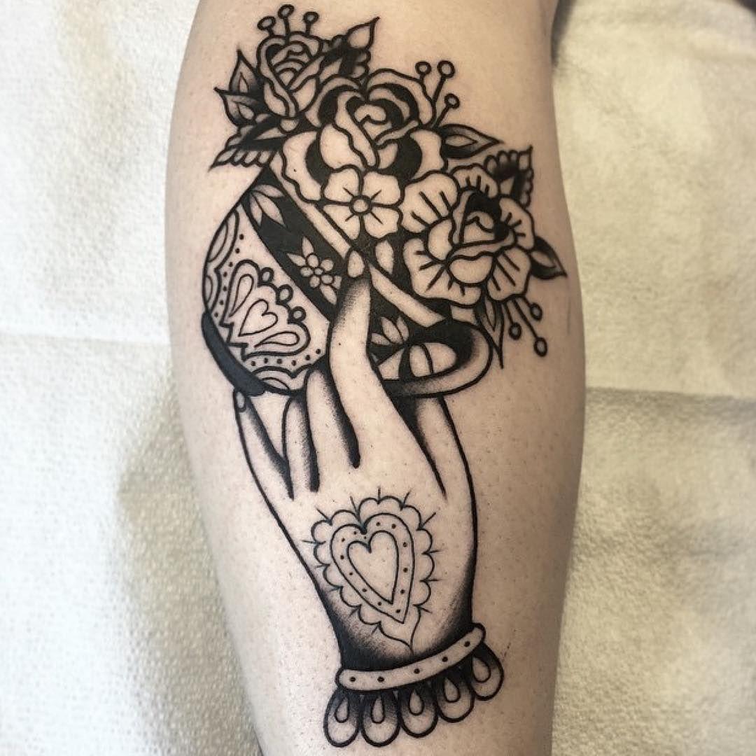 Tattoo By Eli Falconette Blackworkers Tattoo Bw Blackwork Blacktattoo A Canvas Tattoos Traditional Tattoo Coffee Tattoos