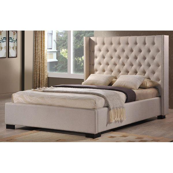 Berta Industrial Queen Standard Bed | Upholstered beds ...