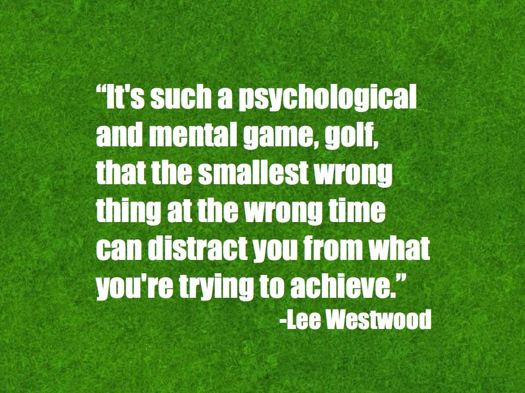 Why is a strong mind so important for success in golf
