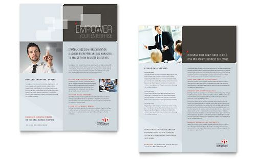 Corporate Business - Sales Sheet Template Design Sample Layout