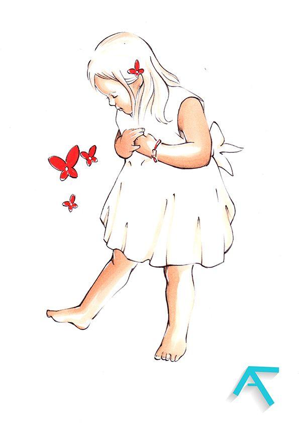 Bijou Collection Bapteme Enfant Fille Petite Papillon Rouge