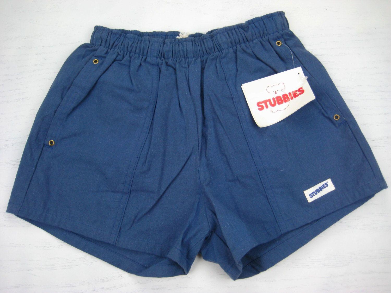 a049a6ed8b NOS 1970s Stubbies Surf Shorts vintage Cotton Blue Short Skate ...