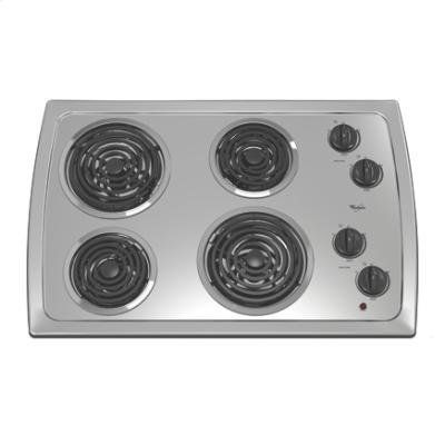 Whirlpool Rcs3014rs 30 Electric Coil Cooktop Stainless Steel Http Shorl Com Madalufefryhy Stainless Steel Cooktop Cooktop Electric Cooktop