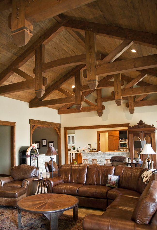 Compact Hybrid Timber Frame Home Design Photos Timber Home Living: Timber Frame Homes, Hill Country Homes, New Homes