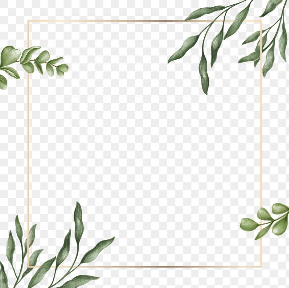 Download Premium Png Of Green Leaves Frame Transparent Png By Noon About Png Leaf Frame Watercolor An Green Leaf Background Green Leaf Wallpaper Green Frame
