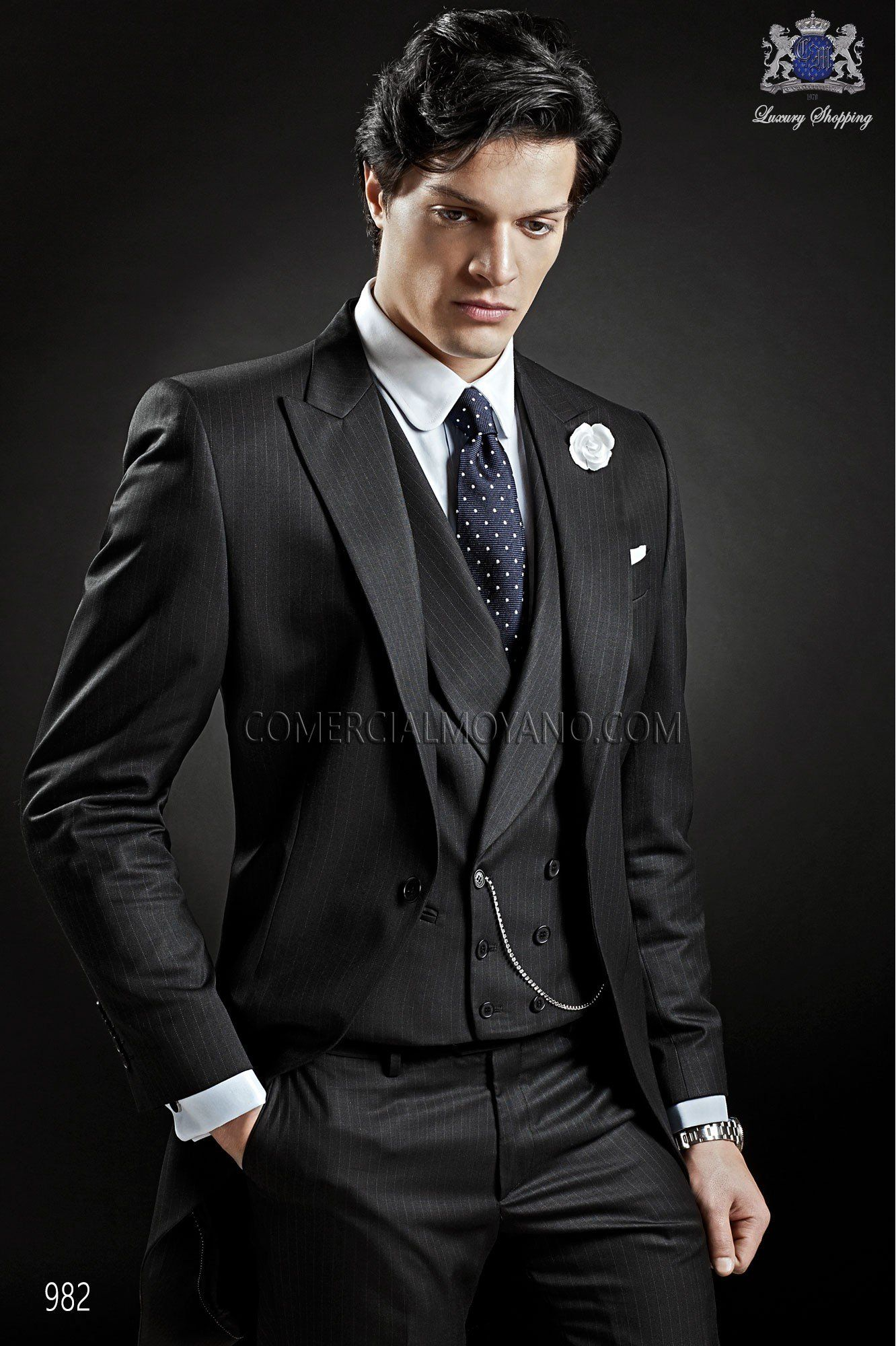 Italian black wedding morning suit | Morning suits, Bespoke and ...