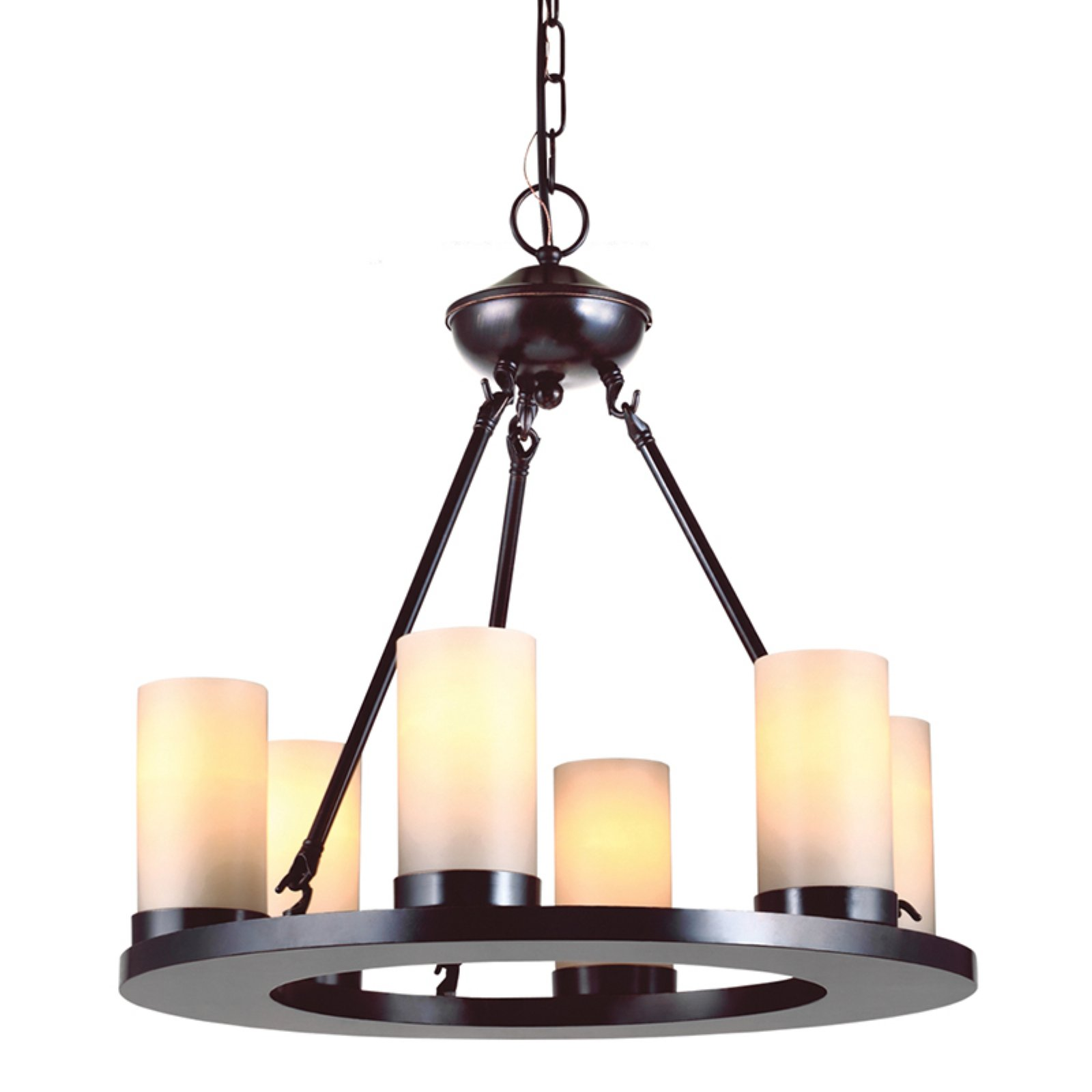 Sea Gull Lighting Ellington 6 Light Round Chandelier 21w In Burnt Sienna Candle Chandelier